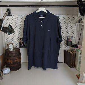 Vineyard Vines Mens Polo Blue Shirt XL
